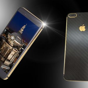 24ct gold & carbon fibre iphone 7 plus