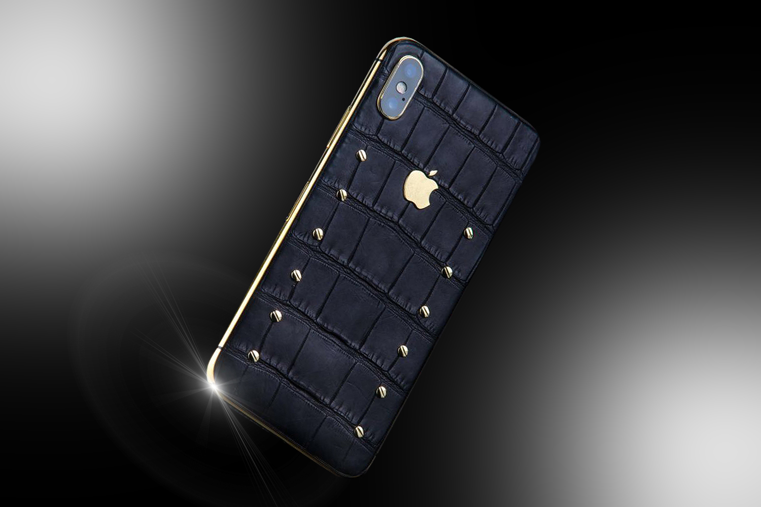premium selection d69bb a381d 24ct Gold iPhone XS Black Knight Edition