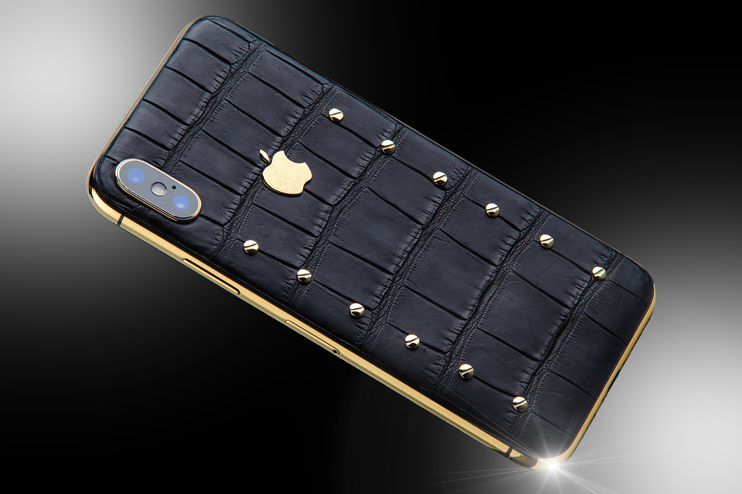 black and gold iphone 24ct gold iphone x black edition goldstriker 3878