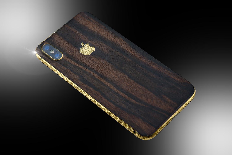 24ct gold iphone xs classic wood edition goldstriker. Black Bedroom Furniture Sets. Home Design Ideas
