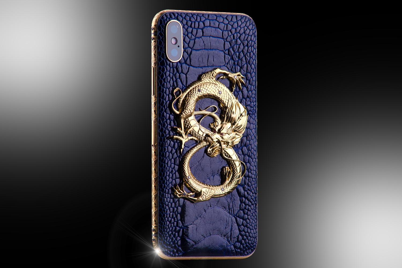 24ct gold iphone xs dragon stone edition goldstriker. Black Bedroom Furniture Sets. Home Design Ideas